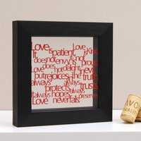 Love Is... Mini Artwork, Gold/Emerald/Green