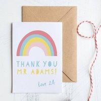 Personalised Teacher Thank You Rainbow Card