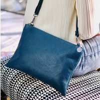 Jemma Personalised Leather Clutch Or Cross Body Handbag