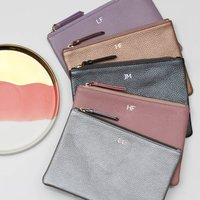 Personalised Initials Luxury Leather Clutch Bag