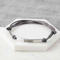 Personalised Sterling Silver Coordinate Bracelet, Silver