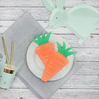 16x Easter Carrot Shaped Party Napkins