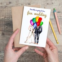 Fun Wedding Balloons Card
