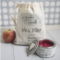 Personalised 'Thank You Teacher' Candle In Gift Bag