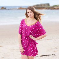 Pink Luxury Silk Hand Dyed Kaftan
