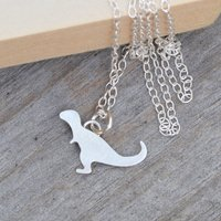T Rex Necklace In Sterling Silver, Silver