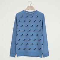 Octopus All Over Print Men's Summer Sweatshirt, Blue/Yellow/Coral