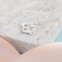 Sterling Silver Infinity Heart Pendant, Silver