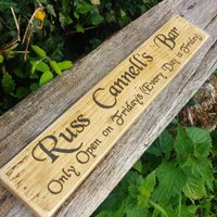Personalised Bar And Garden Signs