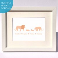 Personalised Lion Family Print
