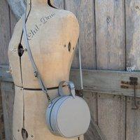 Round Vintage Style Crossbody Leather Handbag