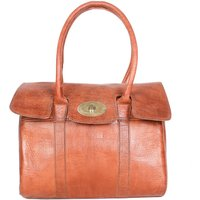 Harriet Handbag, Tan/Chocolate/Black