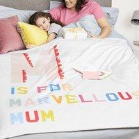 Personalised Marvellous Mum Blanket