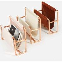 Copper And Velvet Magazine Rack Blush, Brick Or Pearl