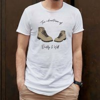 Dad's Adventures Personalised Organic Cotton T Shirt