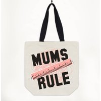 Mums Rule Premium Canvas Tote Bag