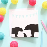 New Baby, Bunting Card