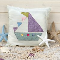 Sailboat Cushion Cover Sewing Kit
