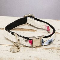 The Disley Pink And White Floral Dog Collar