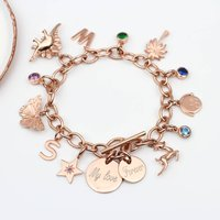 Create A Personalised Gold Charm Bracelet, Gold