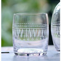 A Crystal Carafe Glass: Oval Design