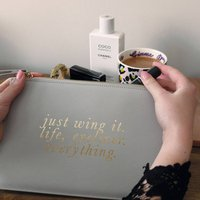 Personalised Quote Clutch Bag Pouch