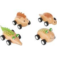 Wooden Pull Back Animal Racer