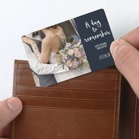 Personalised 'Happy Wedding Anniversary' Wallet Card
