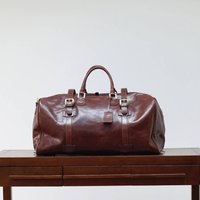 Personalised Extra Large Leather Holdall Flero El