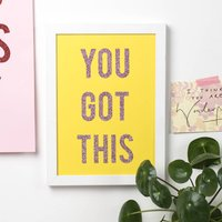 'You Got This' Glitter Wall Art Print