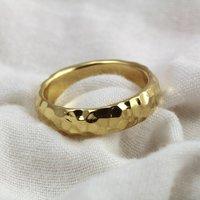 5mm D Profile 18ct Gold 'Glengaber' Statement Ring, Gold