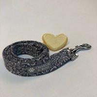 Grey Floral Dog Lead/Leash