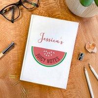 Personalised Name Watermelon Hardback Notebook