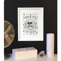 Forever The Rebel Personalised Tattoo Framed Print