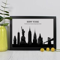 Personalised New York Skyline Print