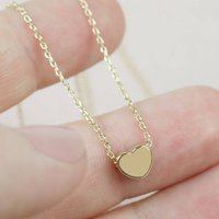 Short Heart Necklace In Gold, Gold