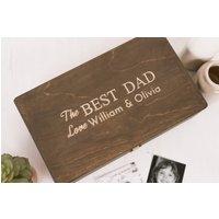 The Best Dad Personalised Wooden Keepsake Box