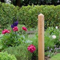 Engraved Oak Mile Post