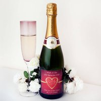 Personalised Champagne Bottle 'Love Heart'
