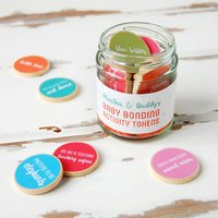 Personalised Daddy And New Baby Bonding Tokens Jar