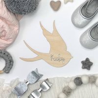 Personalised Bird Wooden Name Sign