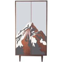 Mid Century Formica Alpine Design Teak Wardrobe