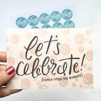'Let's Celebrate' Congratulations/Engagement Card