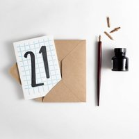 21 Tall Number Birthday Card