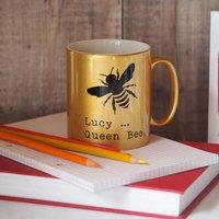Bumble Bee Personalised Mug, Gold/White