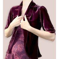 Jacket In Rosewood Silk Velvet