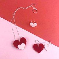 Love Shout Acrylic Heart Jewellery Set