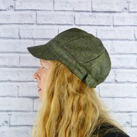 Green Yorkshire Tweed Baker Boy Hat