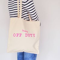 Neon Off Duty Tote Bag