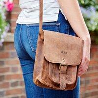 Personalised Buffalo Leather Satchel Style Shoulder Bag